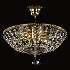 Lubinis šviestuvas Artglass Agatha, 6X40W, E14
