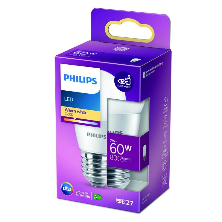 GAISM.D.SP.PHILIPS P48 7W E27 2700K MAT.
