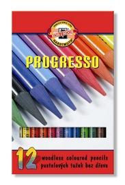 Koh-I-Noor Progresso Woodless Coloured Pencils 12pcs 8756