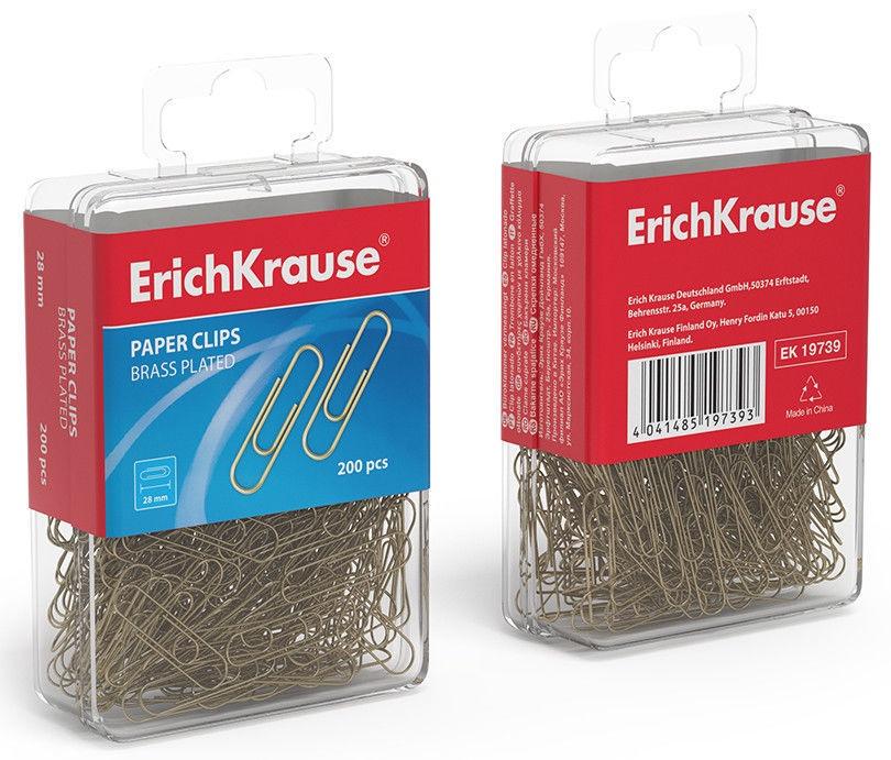 ErichKrause Brass Coating Paper Clips 28mm 200pcs