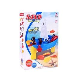 Smilšu kastes rotaļlietu komplekts Sand Beach Set Toys, daudzkrāsains