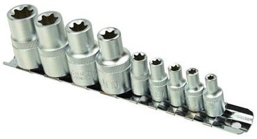 Geko TORX Socket Set 1/4'' 1/2'' 9pcs