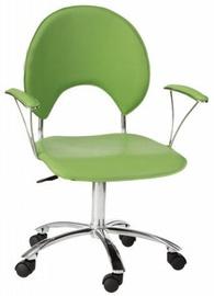 Black Red White Luna Swivel Chair Green