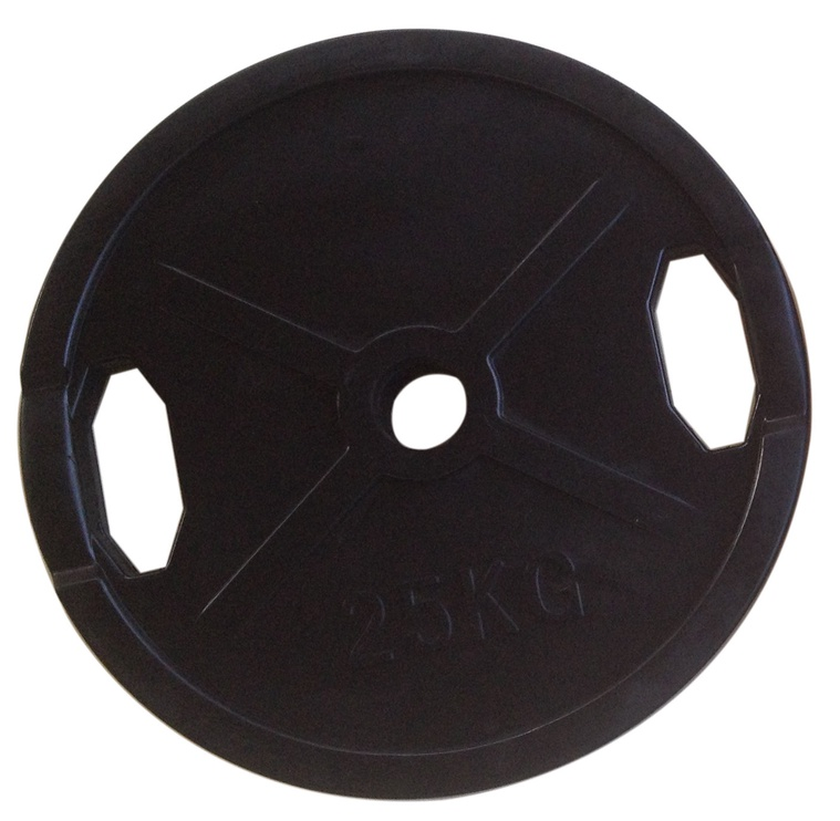 PX Sport Weight Disc Black Rubber 25g