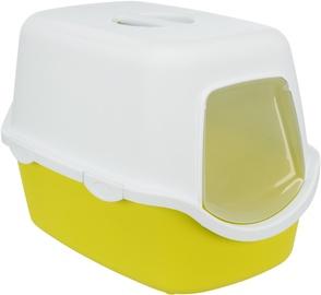 Кошачий туалет Trixie Vico 40276, белый/желтый, закрытый, 400x400x560 мм