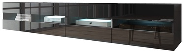 Vivaldi Meble Rita Double TV Stand Black Gloss