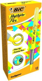 BIC Marking Highliter Flex Yellow 12pcs 448919
