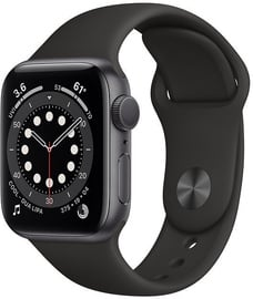 Išmanusis laikrodis Apple Watch Series 6 GPS 40mm Space Gray Aluminum Black Sport Band