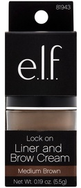 E.l.f. Cosmetics Lock On Liner and Brow Cream 5.5ml Medium Brown