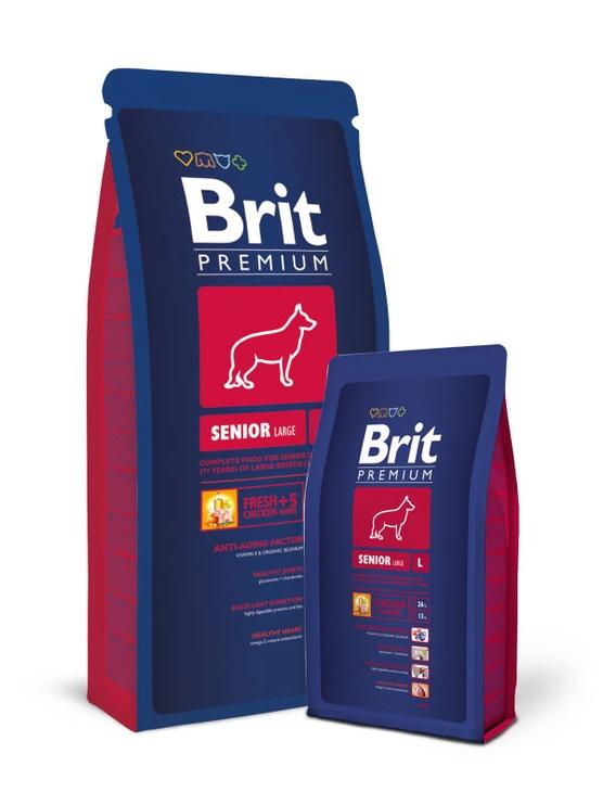 Сухой корм для собак Brit Premium Senior Large, 15 кг