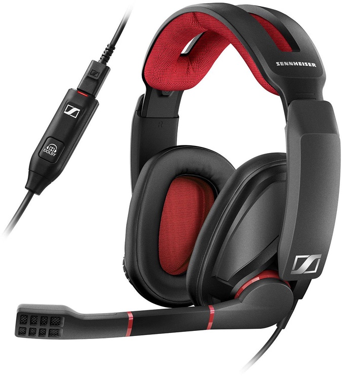 Ausinės Sennheiser GSP 350 Gaming Headset Black/Red