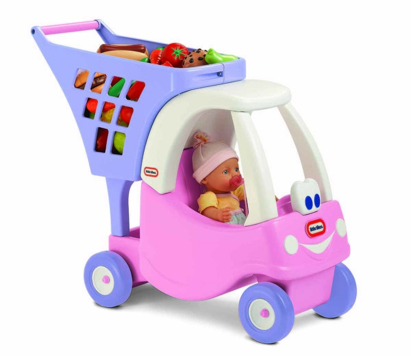 Little Tikes Cozy Shopping Cart Pink