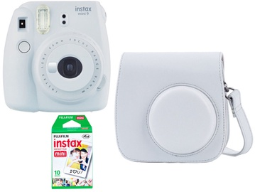 Fujifilm Instax Mini 9 White + 10SH pack + Case