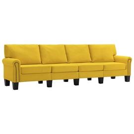 Диван VLX Аabric 4-Seater 287177, желтый, 254 x 70 x 75 см
