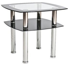 Kafijas galdiņš Signal Meble Rava D Transparent, 600x600x550 mm