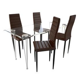 Обеденный комплект VLX 5 Piece Set 271693, коричневый