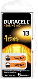Duracell Activeair DA13 Hearing Aid Battery 6x