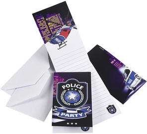 Amscan Police Invitations & Envelopes 998289