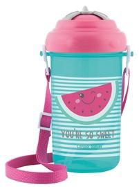 Bērnu pudele dzeršanai Canpol Babies Sport Cup So Cool With Silicone Straw 400ml Pink