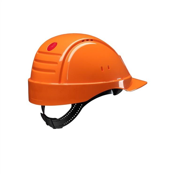 Apsauginis šalmas 3M, su prakaitą sugeriančia juostele, oranžinis, universalus dydis