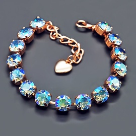 Diamond Sky Bracelet Classic Light Sapphire Shimmer With Swarovski Crystals