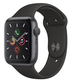 Išmanusis laikrodis Apple Series 5 44mm GPS Space Grey Aluminium Case with Black Sport Band S/M and M/L