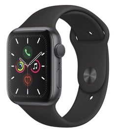 Apple Watch Series 5 44mm GPS Space Grey Aluminium Case with Black Sport Band S/M and M/L