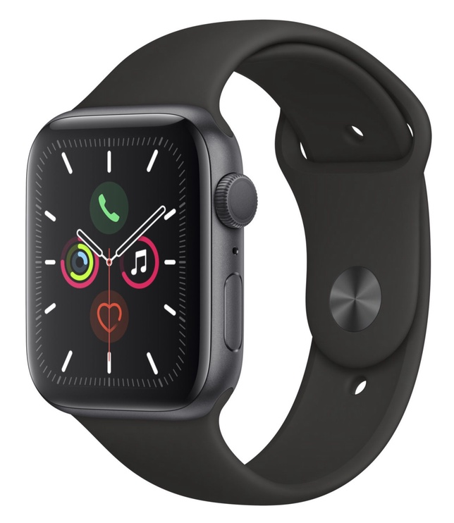 Išmanus laikrodis Apple Series 5 44mm GPS Space Grey Aluminium Case with Black Sport Band S/M and M/L
