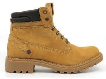 Wrangler Creek Fur Womens Leather Winter Boots Light Brown 37