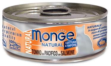 Monge Natural Yellowfin Tuna With Salmon 80g