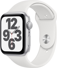 Nutikell Apple Watch SE GPS 44mm Silver Aluminum White Sport Band