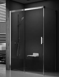 Dušo kabina Ravak, Matrix, MSDPS - 100 / 80 L, satino + stiklas Transparent
