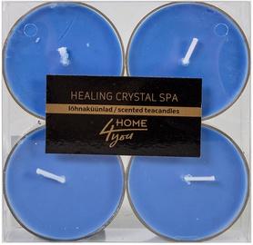 Home4you Teacandles Maxi Chic Healing Crystal Spa 4pcs