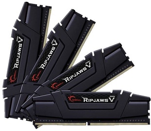 G.SKILL RipjawsV 32GB 3600MHz CL16 DDR4 KIT OF 4 F4-3600C16Q-32GVKC Black