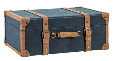 Home4you Oswald Trunk XL 74x50x30cm Blue