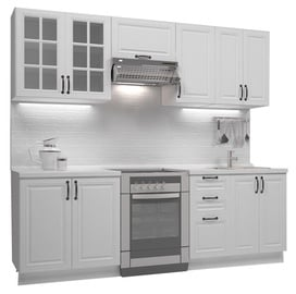 Кухонный гарнитур Halmar Michella, белый, 2.4 м