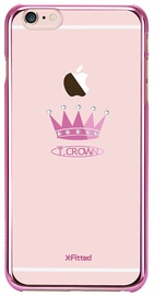X-Fitted Crown Swarovski Crystals For Apple iPhone 6/6s Pink
