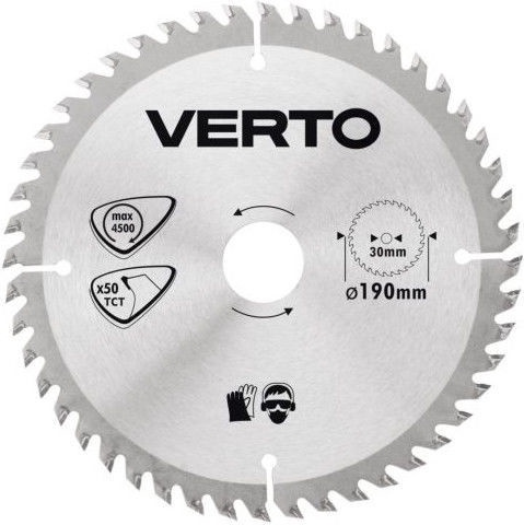 Verto Circular Saw Blade 190x30mm 50T