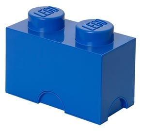 LEGO Storage Brick 2 Knobs Blue