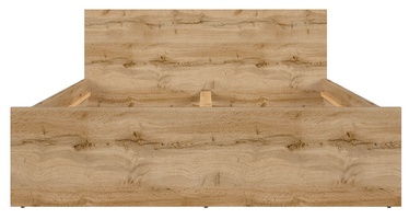 Voodi Black Red White Zele Wotan Oak, 140 x 200 cm