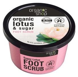 Organic Shop Foot Scrub 250ml Sugar Lotus