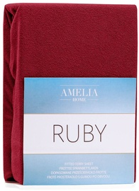AmeliaHome Ruby Frote Bedsheet 140-160x200 Dark Red 26