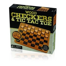 Galda spēle Spin Master Wood Checkers & Tic Tac Toe 6033145