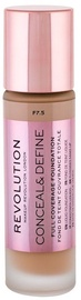 Makeup Revolution London Conceal & Define Foundation 23ml F7.5