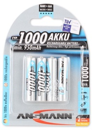 Ansmann HR03 NiMH AAA Rechargeable Battery 4pcs