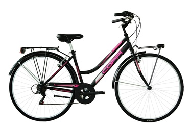 Coppi City Bike Lady 28'' 43 Black/Pink