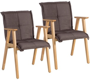 Стул для столовой Home4you Razor With Armrests Brown, 2 шт.