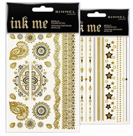 Rimmel London Ink Me Sticker Tattoos Gold 2pcs