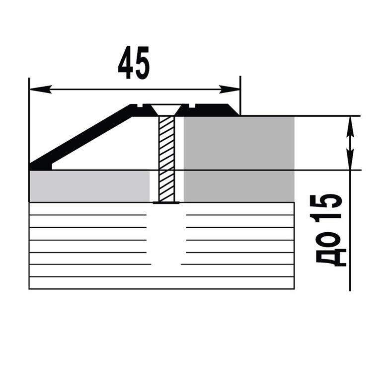 Parketa stūris, sudraba, 2700 mmx45 mm, 10 gab.