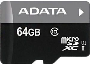 A-Data 64GB Premier Micro SDXC Class 10 + Micro reader